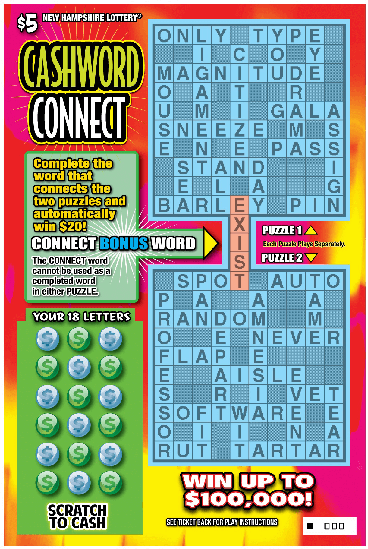 Cashword Connect | New Hampshire Lottery