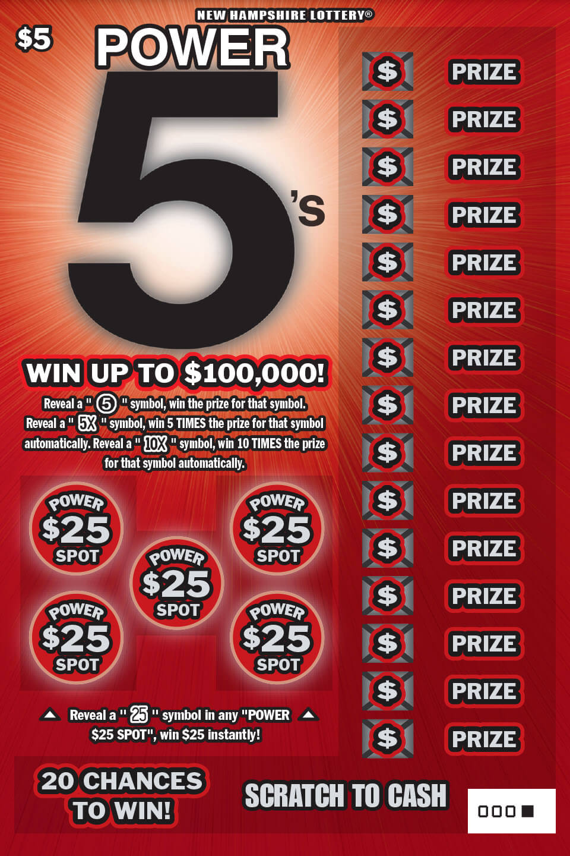 Power 5 S New Hampshire Lottery